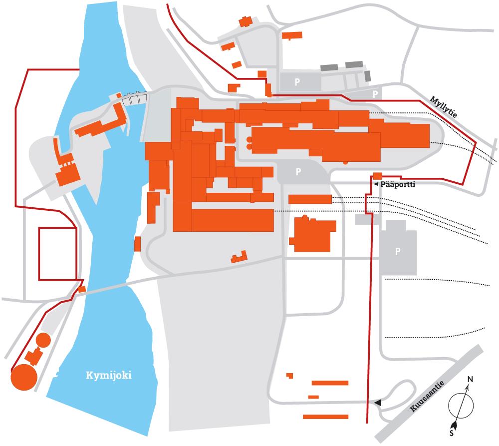 Voikkaan yritysalueen kartta - Redeve Oy